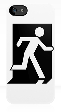Running Man Exit Sign Apple iPhone 5 Mobile Phone Case 63