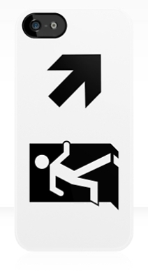 Running Man Exit Sign Apple iPhone 5 Mobile Phone Case 65