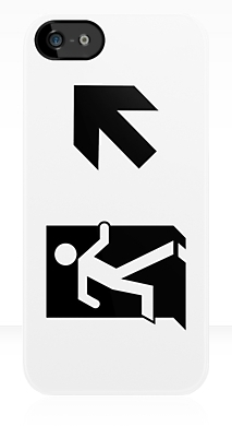 Running Man Exit Sign Apple iPhone 5 Mobile Phone Case 66