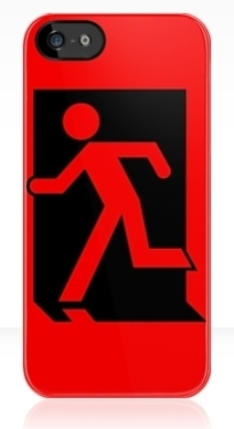 Running Man Exit Sign Apple iPhone 5 Mobile Phone Case 7