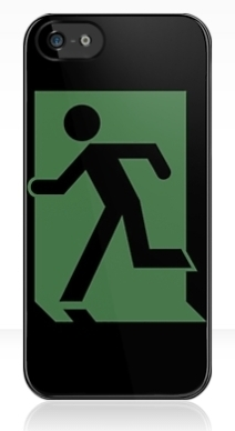 Running Man Exit Sign Apple iPhone 5 Mobile Phone Case 70