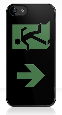 Running Man Exit Sign Apple iPhone 5 Mobile Phone Case 71
