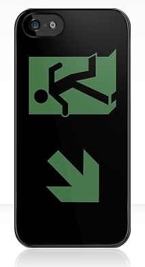 Running Man Exit Sign Apple iPhone 5 Mobile Phone Case 72