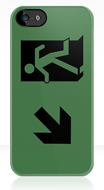 Running Man Exit Sign Apple iPhone 5 Mobile Phone Case 73