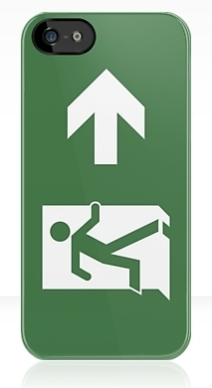Running Man Exit Sign Apple iPhone 5 Mobile Phone Case 77