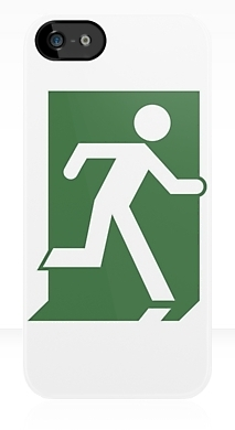 Running Man Exit Sign Apple iPhone 5 Mobile Phone Case 78