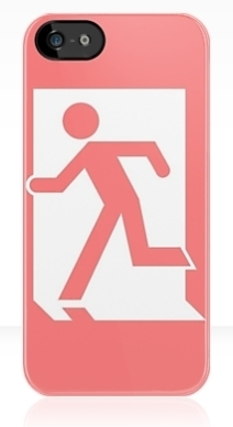 Running Man Exit Sign Apple iPhone 5 Mobile Phone Case 8