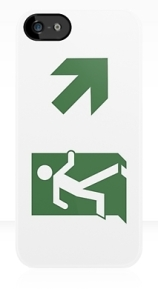 Running Man Exit Sign Apple iPhone 5 Mobile Phone Case 80