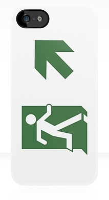 Running Man Exit Sign Apple iPhone 5 Mobile Phone Case 81