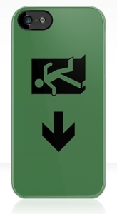 Running Man Exit Sign Apple iPhone 5 Mobile Phone Case 84