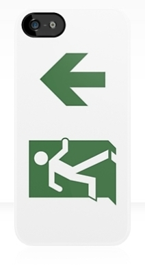 Running Man Exit Sign Apple iPhone 5 Mobile Phone Case 85
