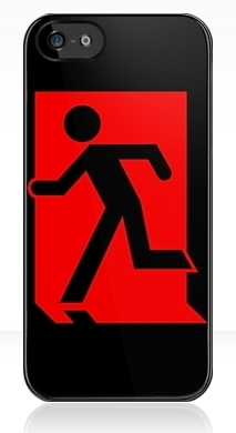 Running Man Exit Sign Apple iPhone 5 Mobile Phone Case 86