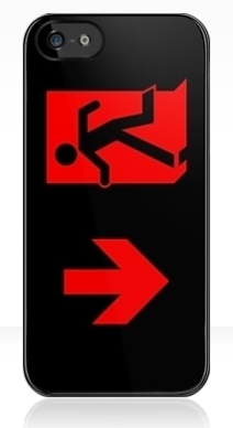 Running Man Exit Sign Apple iPhone 5 Mobile Phone Case 87