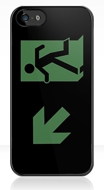 Running Man Exit Sign Apple iPhone 5 Mobile Phone Case 88