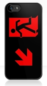 Running Man Exit Sign Apple iPhone 5 Mobile Phone Case 89