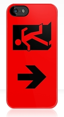 Running Man Exit Sign Apple iPhone 5 Mobile Phone Case 9