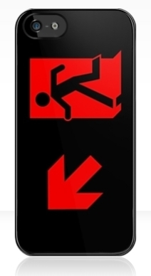 Running Man Exit Sign Apple iPhone 5 Mobile Phone Case 90