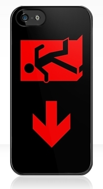 Running Man Exit Sign Apple iPhone 5 Mobile Phone Case 91