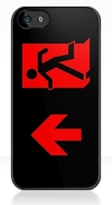 Running Man Exit Sign Apple iPhone 5 Mobile Phone Case 92