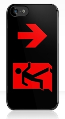 Running Man Exit Sign Apple iPhone 5 Mobile Phone Case 93