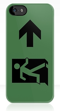 Running Man Exit Sign Apple iPhone 5 Mobile Phone Case 94
