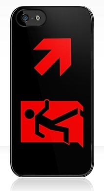 Running Man Exit Sign Apple iPhone 5 Mobile Phone Case 95