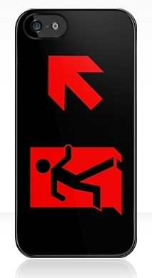 Running Man Exit Sign Apple iPhone 5 Mobile Phone Case 96