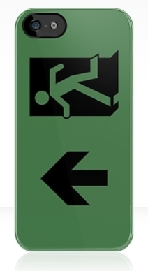 Running Man Exit Sign Apple iPhone 5 Mobile Phone Case 97