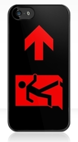 Running Man Exit Sign Apple iPhone 5 Mobile Phone Case 98