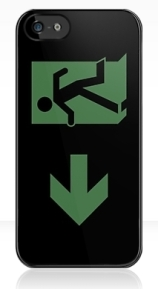 Running Man Exit Sign Apple iPhone 5 Mobile Phone Case 99