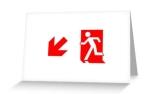 Running Man Exit Sign Greeting Card 100