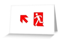 Running Man Exit Sign Greeting Card 101