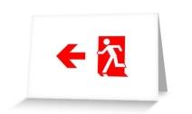 Running Man Exit Sign Greeting Card 102