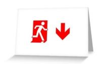 Running Man Exit Sign Greeting Card 106