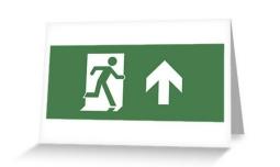Running Man Exit Sign Greeting Card 11