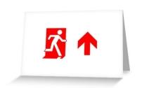 Running Man Exit Sign Greeting Card 110