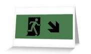 Running Man Exit Sign Greeting Card 116
