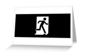 Running Man Exit Sign Greeting Card 118