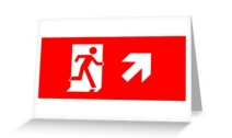 Running Man Exit Sign Greeting Card 12