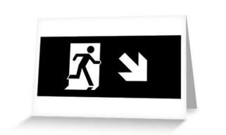 Running Man Exit Sign Greeting Card 120