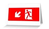Running Man Exit Sign Greeting Card 16