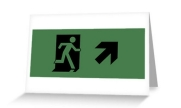 Running Man Exit Sign Greeting Card 2
