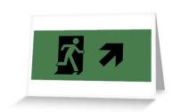 Running Man Exit Sign Greeting Card 2