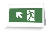 Running Man Exit Sign Greeting Card 3