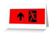 Running Man Exit Sign Greeting Card 37