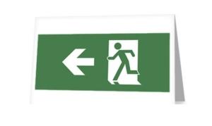 Running Man Exit Sign Greeting Card 4