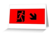 Running Man Exit Sign Greeting Card 41