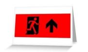 Running Man Exit Sign Greeting Card 44