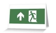 Running Man Exit Sign Greeting Card 5