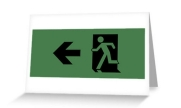 Running Man Exit Sign Greeting Card 50